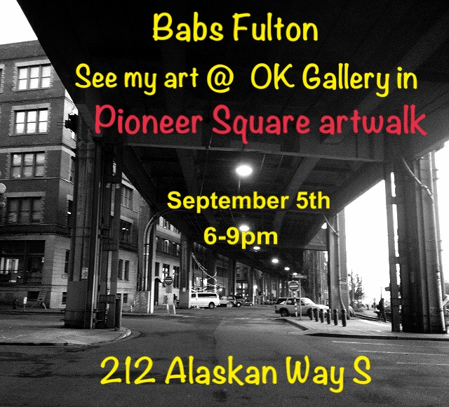 Stop on by The OK Hotel Gallery and see me and my art!