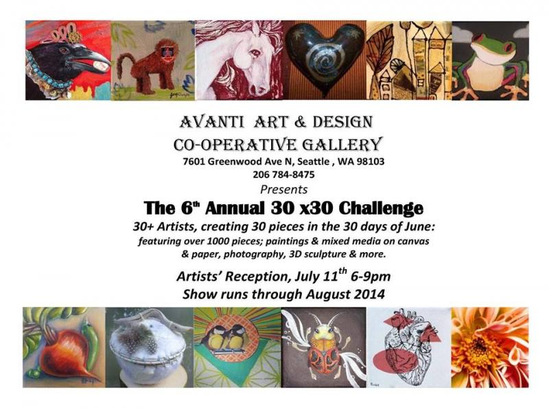The 30 in 30 show flyer