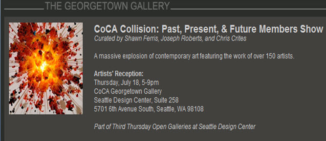 I'm one of the artists in this show - come on by and check out all the amazing w